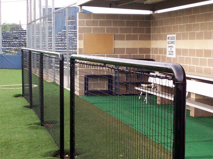Baseball Netting Systems Dugout Protective Netting Nets Of Texas
